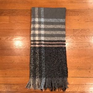 Accessories - Oversized plaid multicolor gray scarf